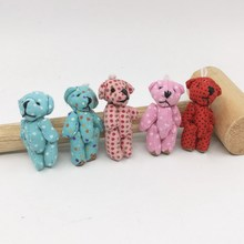 4.5cm Mini joint bear teddy bear, mini plush teddy bear, mini plush Stuffed Toy DIY Garment accessory small pandents
