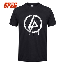 Custom Work T shirts Linkin Park Ink Style Logo Adult Natural Cotton Tees Hot Sale Men's T Shirt Men Cotton