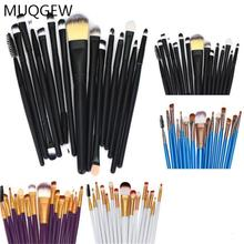 Professional 15 PCS Makeup Brushes Set Tools Make-up Toiletry Kit Wool Brand Make Up Brush Set Case Cosmetic Foundation Brush(China)