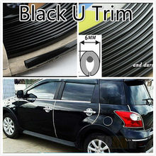 "2M Black Car Interior Ven Side Exterior Molding Trim Grille Impact 6mm Door Decoration Strip Chrome Style ""U""(China)"