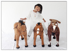 large 80x65cm horse plush toy ,can be rided , beared weight about 70kg ,home decoration children's toy birthday gift h2903