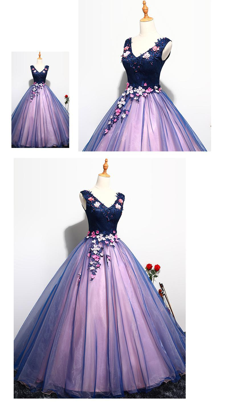 Buy Quinceanera Dress Prom Sleeveless Sexy V-neck Ball Gown online