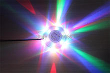 modern led round holiday mini laser 8W 48leds 90-240V LED RGB led stage lights wall light lamp fixture for decoration