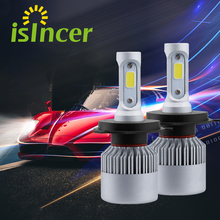 Buy Car-styling Car H7 H4 LED Car Headlight Cree Chip 110W 16000LM H13 H11 H1 12V Headlamp Pure White 6000K Light Bulbs for $12.99 in AliExpress store