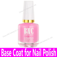 1piece Base Coat for Common Nail Polishes Nail Art Base Oil with Brush Glass Bottle Wholesale Pink Color 15ml Calcium Bottom Oil(China)