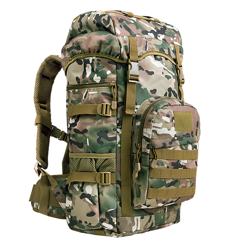 New 50L Mens Large Capacity Travel Bags Camouflage Military Tactics Backpack Multifunction Waterproof Oxford Hike Camp Backpack<br>