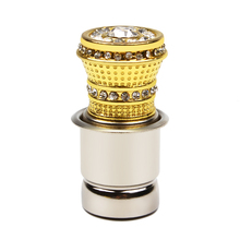 HOT Luxury Aluminum Car Cigarette Lighter With Small Crystal Rhinestones Golden Auto Accessories #iCarmo(China)