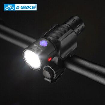 Inbike Vélo Lumière Vélo lampe de Poche LED Vélo Avant Lumière Vélo USB Rechargeable Phare Vélo Lampe Fietslicht LX210
