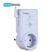 GSM 2G Power Outlet Plug Socket with Temperature sensor Intelligent Temperature Control English SMS Command Control(China)