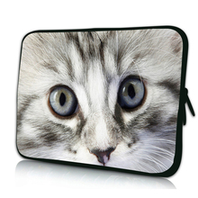 "So Cute Cat Viviration Laptop Sleeve Bag New Mini 7"" Inch 10"" 12"" 13"" 14"" 15"" 17"" Netbook Notebook PC Portable Cover Cases Pouch"