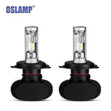 Oslamp CREE CSP Chips Led Headlight Car Bulbs H4 Fan-less High/Dipped Beam 6500K Auto Head Lamp For Ford/Toyota/Honda S1 Series