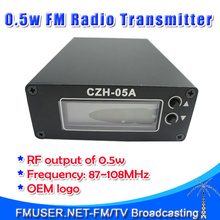 Promotion! Freeshipping CZH-05A 0.5W FM transmitter for radio broadcast FM station Clear Stock Lowest Price(China)