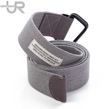 New With Cloth Label Canvas Belt Young Men And Women Fashion Jeans Belt High Quality 3.8cm Width Casual Strap(China)
