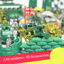 2017 Hot sale 200 pcs/set 5cm lifelike mini military equipment plastic soldier model toys for boy, best birthday gift to boys