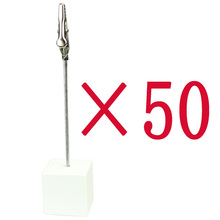 lot 50pcs white cube wire card&notes&memo&picture&photo clip holders,new wedding place,promotion gift ,meeting party favor deco
