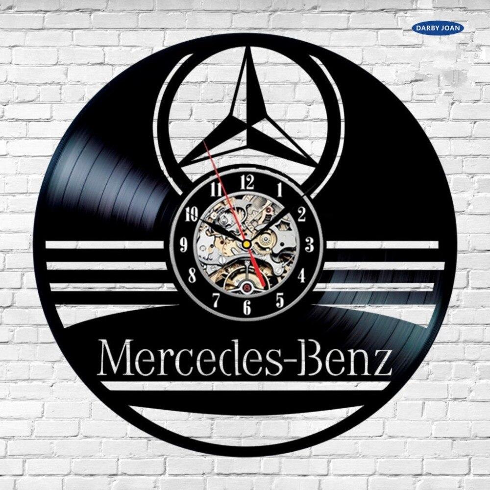 настенные часы Mercedes Benz автомобилей AMG логотип виниловая пластинка настенные часы подарок Home Decor Room Reloj, настенные часы Saat будильник Reloj больш...(China)