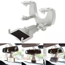 Bracket Car Rearview Mirror Mount Holder Stand Cradle For Cell Phone GPS mobile phone / smart phone / PDA / MP3 / MP4 devices(China)
