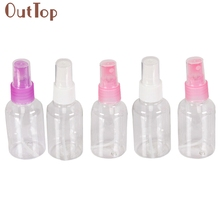 5Pcs Clear 50ml Empty Spray Bottle Travel Transparent Plastic Perfume Atomizer July14