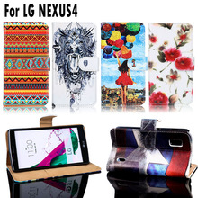 PU Leather Cell Phone Cases Covers For LG Google Nexus 4 E960 Nexus4 Housing Bags Shell For LG Google Nexus 4 Wallet Flip Case