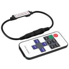 RF10 Keys DIY Wireless RGB Remote Controller Single LED Colorful with Cable Promotion(China)