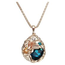 Buy Fashion Rhinestone Crystal Gold Sweater Chain Women Long Pendant Necklace GiftColor:Blue for $2.27 in AliExpress store