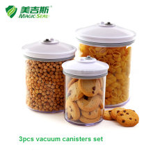 3pcs set vacuum canister, vacuum container working on Magic Seal Brand vacuum sealers(China)