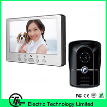 "Good quality 7"" TFT color LCD video doorphone one to one intercom system 815FG11 video door bell for door access control system"