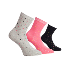 THREEGUN 3 Pairs Cotton Soft Dot Women Socks One Size Breathable Candy Color Casual Socks Winter Autumn Set For Women(China)
