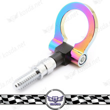 Universal Aluminum Neo Chrome Tow Hook Euro Janpan Model Rainbow Front Screw on Rounded Racing Towing Hook(China)