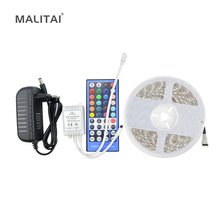 5050 RGB / RGBW / RGBWW 5M Non Waterproof LED Strips light Tape / 44/40Keys Controller / 3A 12V Power Adapter DIY Decor lighting