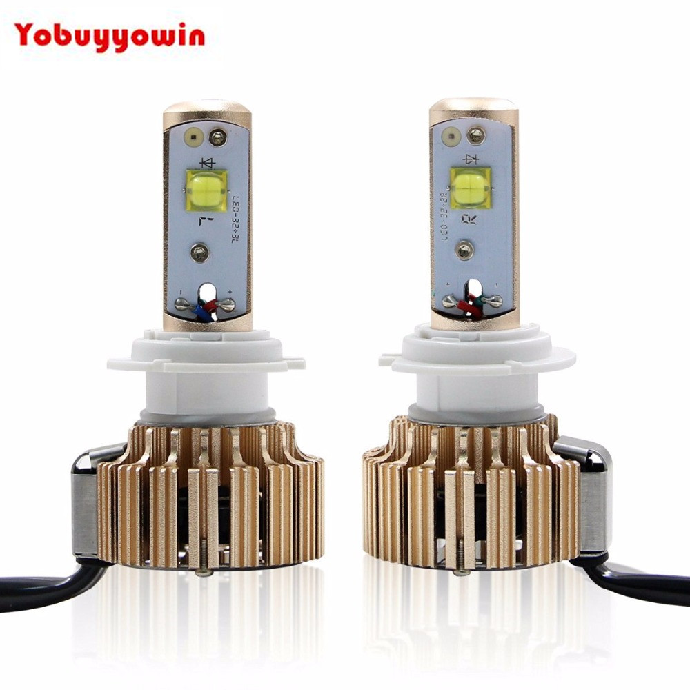Error Free Car H7 Turbo 60W Waterproof LED Headlights CREE Chips Led Bulbs 6K 7000Lm + Canbus Kit (1 Pair)-2 Year Warranty<br>
