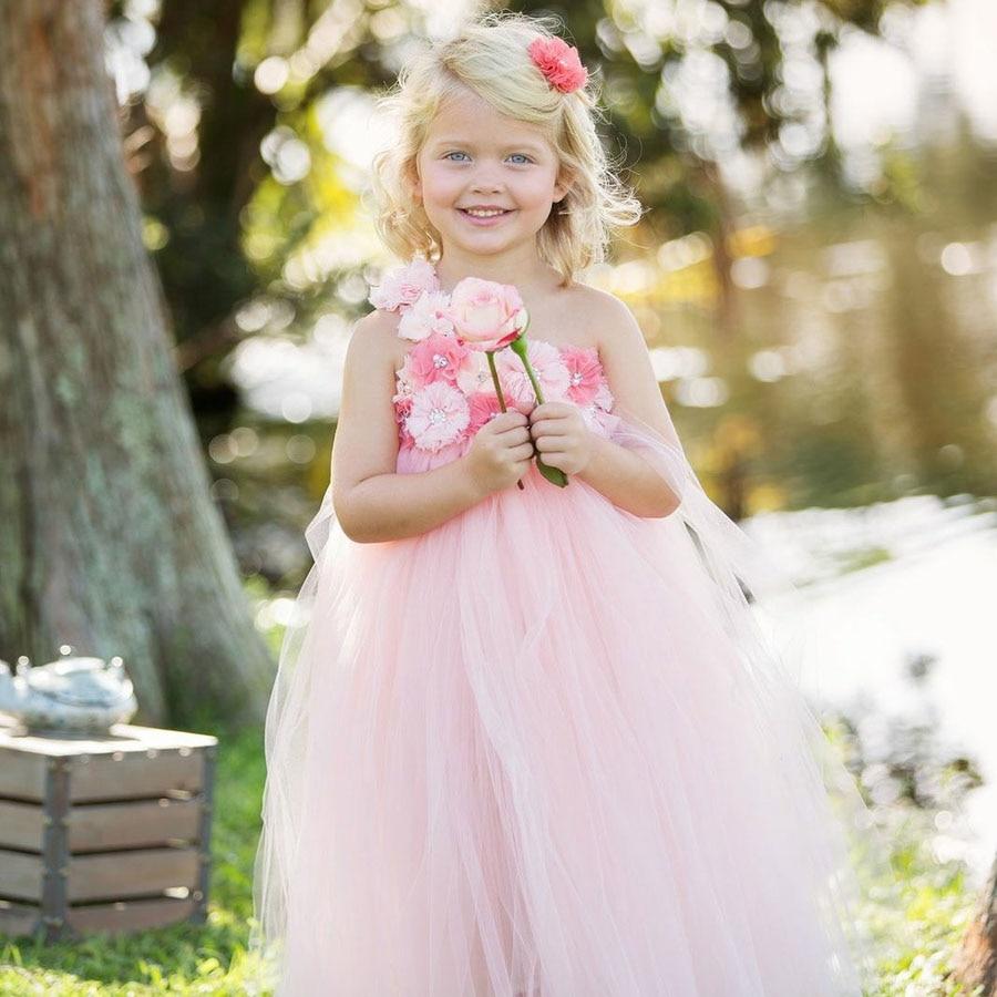 Floor-Length Flower Girl Tutu Dress Christening Party Photograph Baby Clothing Super Fluffy Princess Kids Dress TS075<br><br>Aliexpress