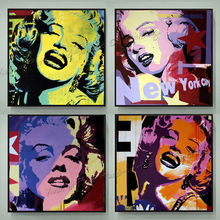 100% Handpainted Modern Wall Art Abstract Pop Art Oil Painting Marilyn Monroe Decor Wall Art Home Decoration