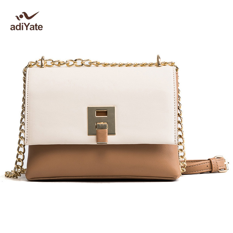 ADIYATE Women Bag 2017 Winter Fashion O Bag New Handbags Chain Estilo Europeu e Bolsas Femininas Shoulder Italian Leather Bags<br>