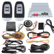 Top quality PKE car alarm with auto start push start button password access & chip immobilizer bypass include hopping code(China)