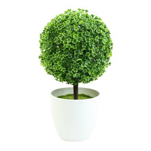 Mastone Ceramic Vase artificial plants Potted Simulation flowers decorated Flocking Flower(China)