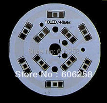 48mm 5W 5630 5730 SMD Aluminum Plate 10 SMD LED Base Plate PCB 5 Series 2 and  20pcs