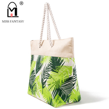 2017 Women Bag Summer Straw Beach Bag Pineapple Printed Handbag Lady Weekend Tote Bags Designers Travel Handbag Straw Tote Bags