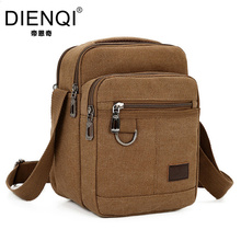DIENQI Brand 2017 New High Quality Canvas Bag Men Casual Travel Crossbody Bag Male  Men's Shoulder Bag Messenger Handle Bag