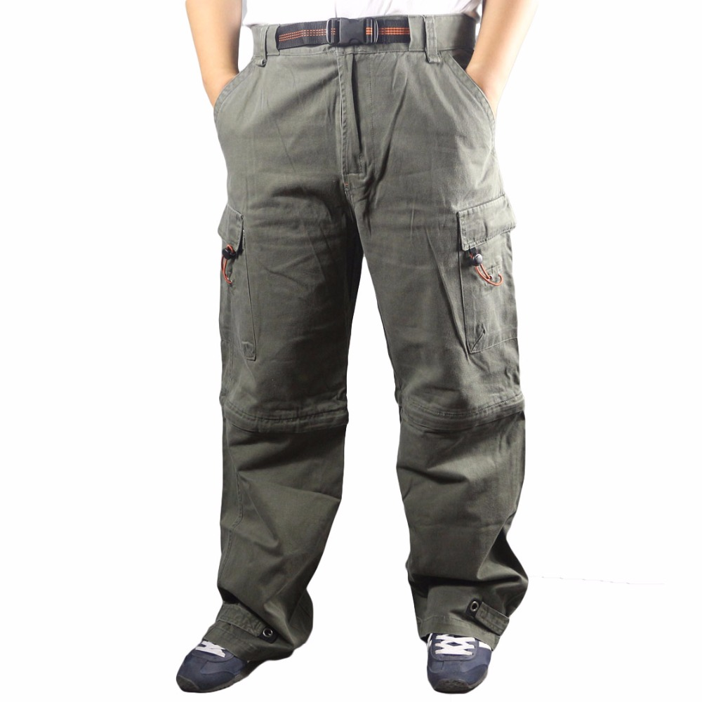 Men work pants large size loose multi-pockets mens working trousers wear-resistance welding repairman labor casual cargo pants<br>