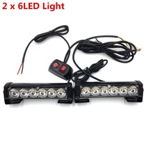 Car Truck Front Grille LED Strobe Flash Warning Light Auto Police LED Bar Emergency Light 12V Caution Lamp(China)