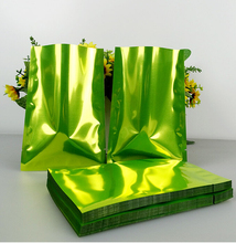 Size:8*12cm green aluminum bags,bakery packing pouches,heat sealing open top aluminum foil vacuum package pouches 200pcs/lot(China)