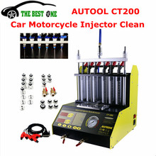 AUTOOL CT200 Gasonline 6/4 cylinder Car Motorcycle Auto Ultrasonic Injector Cleaning Tester machine 220/110V Free Shipping