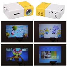 Excelvan YG300 LED Portable Projector 500LM 3.5mm 320x240 Pixel HDMI USB Mini YG-300 Projector Home Media Player support 1080p(China)