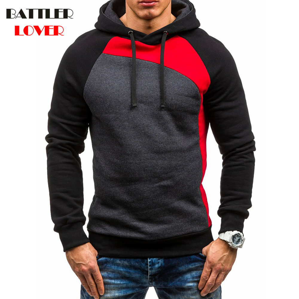 Pullovers Hoodies Men Autumn Fleece Hoody Hoodies Mens Patchwork Sweatshirts Hip Hops Males Casual Brand Clothing Hooded Jackets