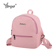 YBYT brand 2017 new small fashion casual women rucksack high quality package shopping bag ladies famous designer travel backpack