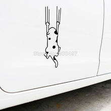 10 x Funny Design Car Styling Lovely Cat Climbing the Wall Car Decal Accessories for VW Ford Mazda Fiat Volkswagen Renault Opel(China)