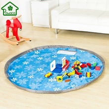 Portable Large Kids Toy Storage Bag Play Mat for Lego Toys Organizer Bin Box Children Collection Pad Drawstring Quick Collect