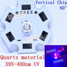 3W UV/Ultra Violet 3535 395-400nm LED Light Quartz Material Vertical Chip Ultra Violet DIY with 20mm 16mm 14mm 12mm 8mm PCB(China)