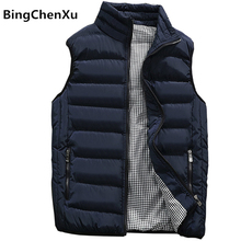 Vest Men New Stylish 2017 Autumn Winter Warm Sleeveless Jacket Army Waistcoat Men's Vest Fashion Casual Coats Mens 10 Colors 419(China)
